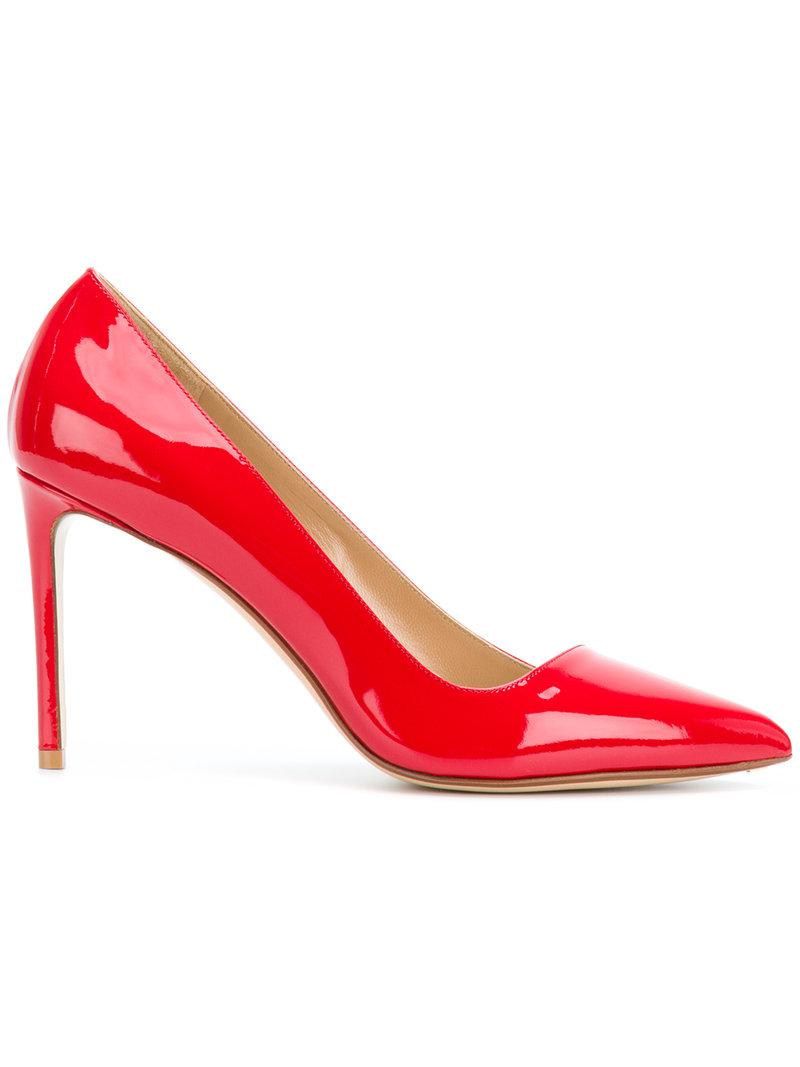 pointed toe pumps - Red Francesco Russo YAc9HqvLC