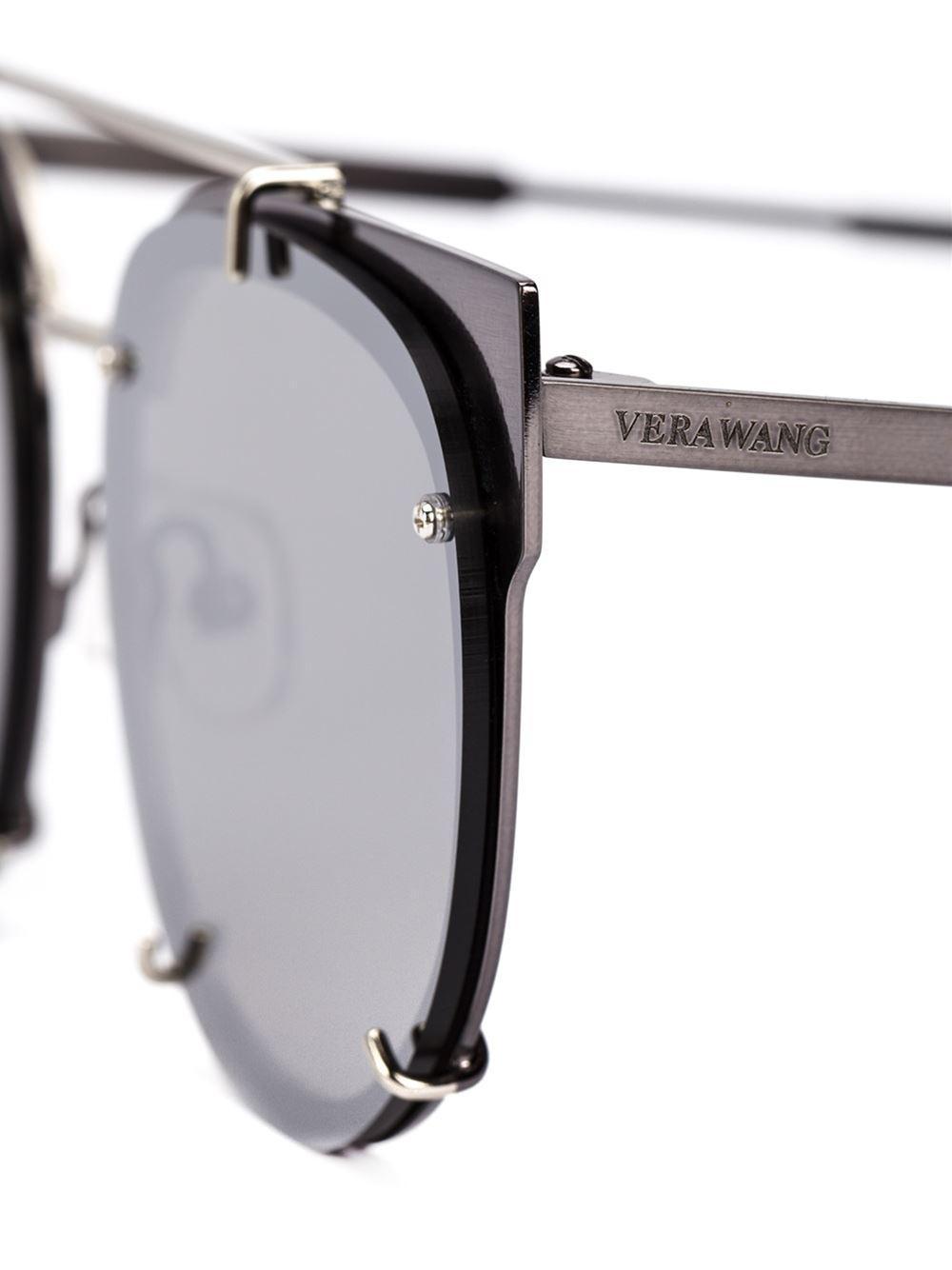 Lyst - Vera Wang Round Frame Sunglasses in Gray