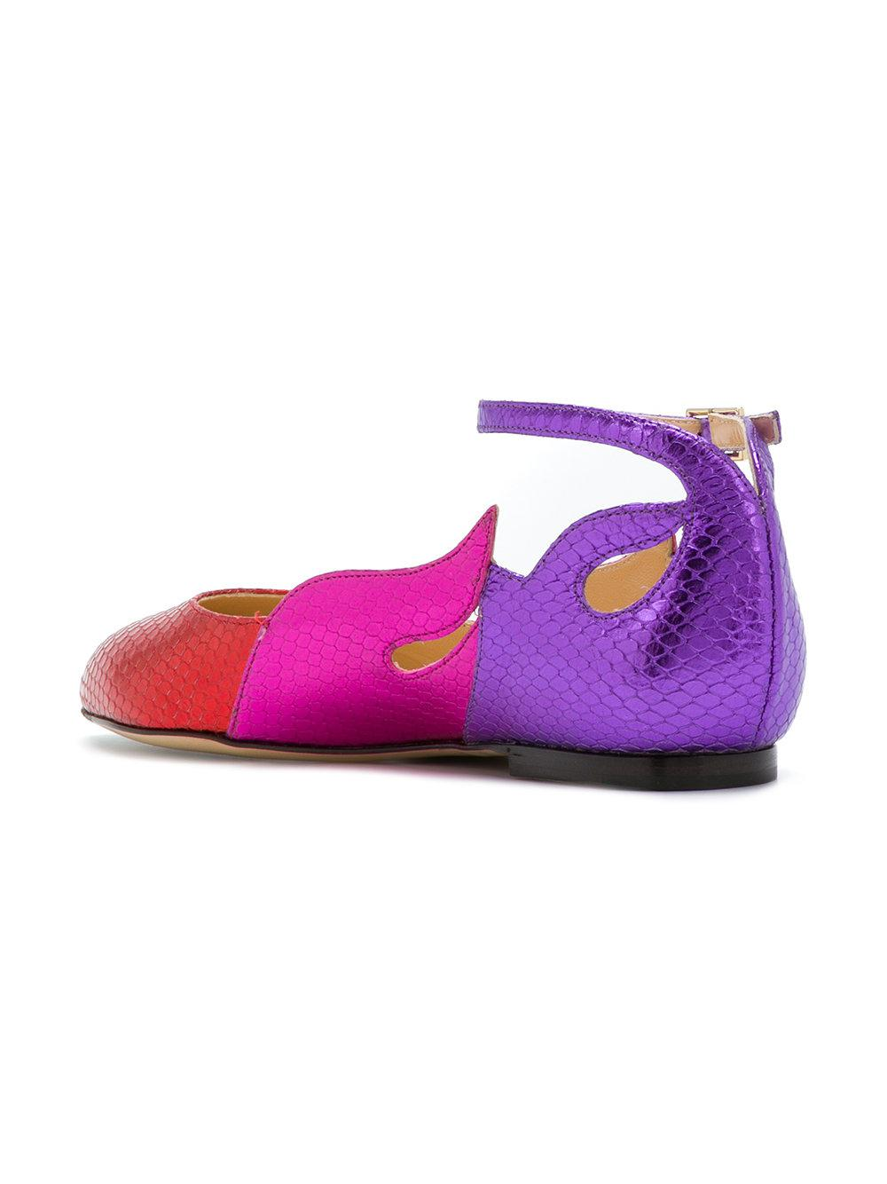 Charlotte Olympia Flamboyante Ballerines - Multicolor 0LNw4hrA