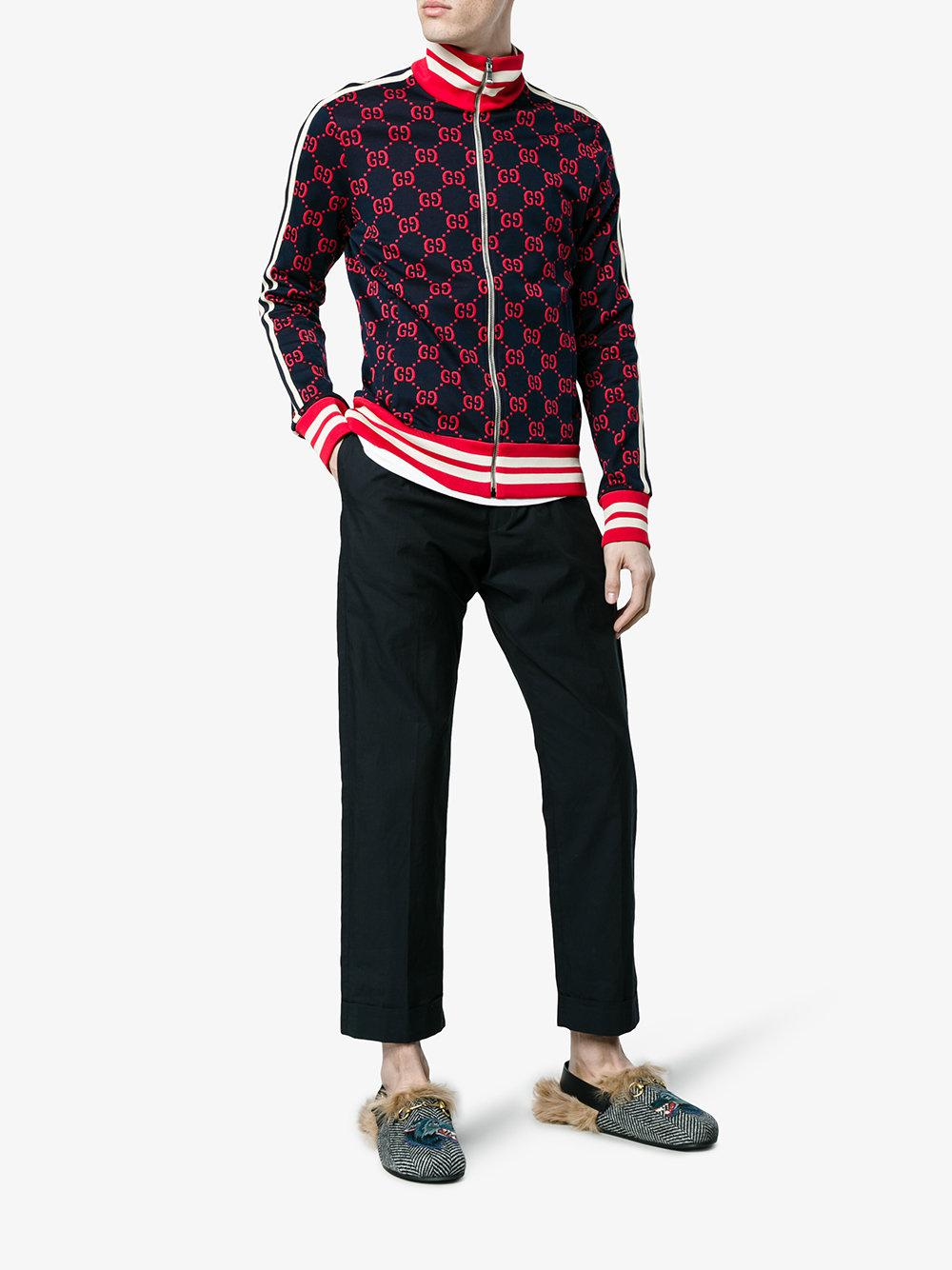 b84f4226323 Lyst - Gucci Fur Herringbone Slippers With Wolf Head in Black for Men