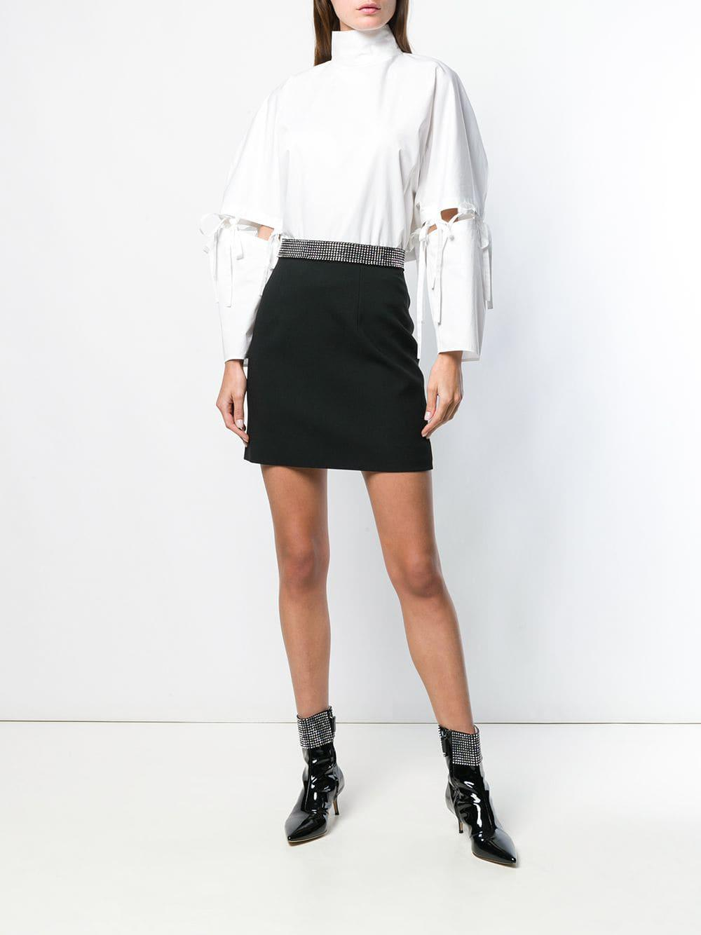 b5b81a5294 Lyst - Christopher Kane Crystal-band Mini Skirt in Black - Save  0.4950495049505008%
