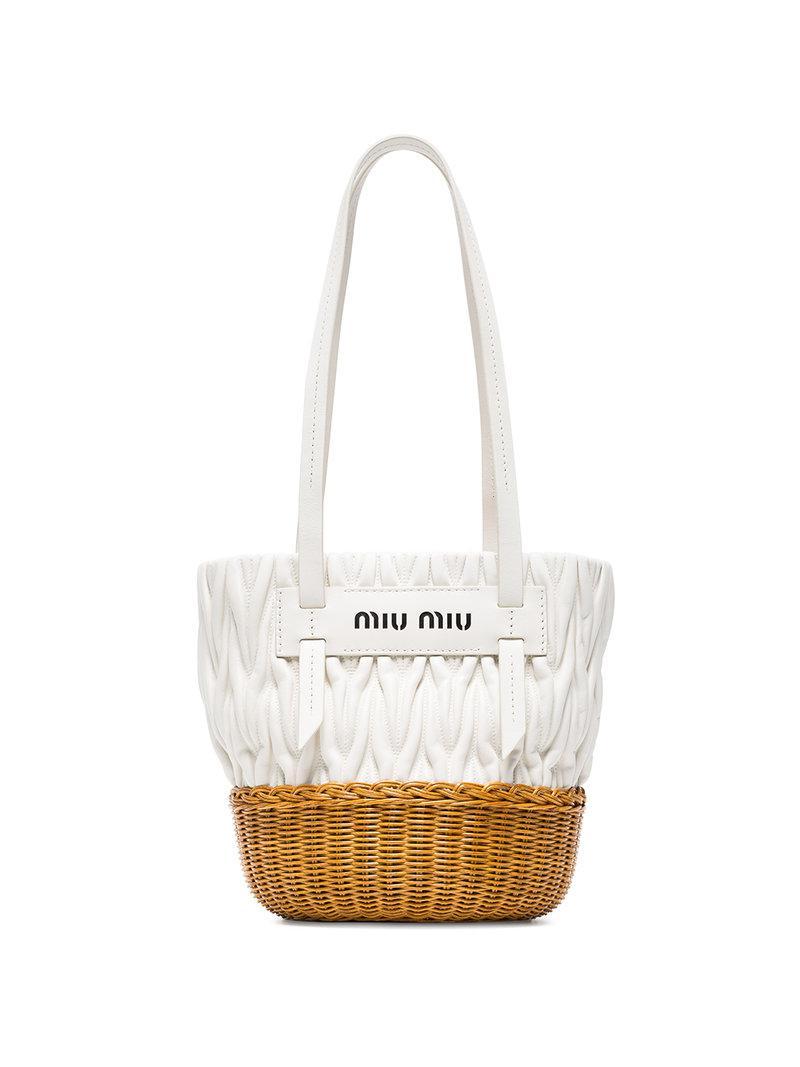 Miu Miu Petit sac seau à détails de boucles nr8Xx
