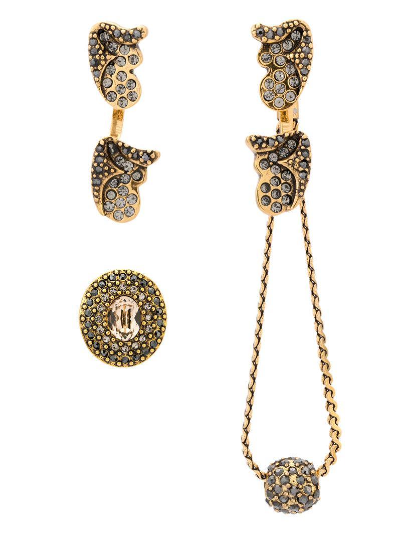 long chain earrings - Metallic Camila Klein qqfkrIN