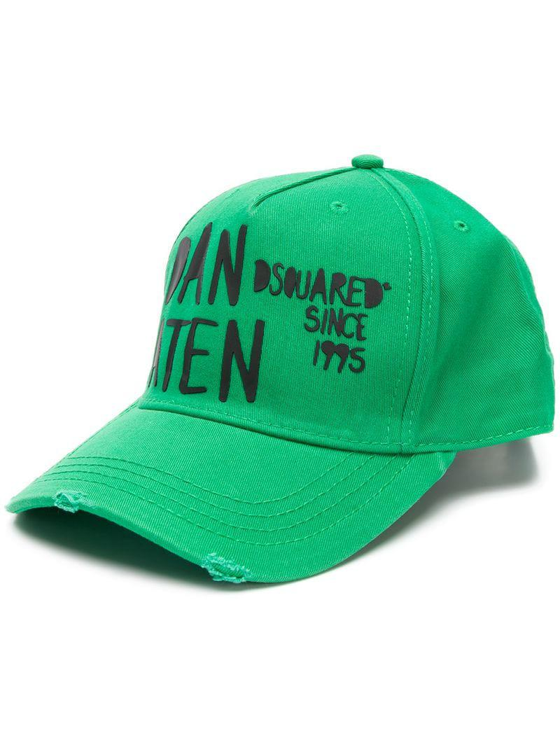 d17bc5e1ab29e Dsquared² Printed Baseball Cap in Green for Men - Lyst