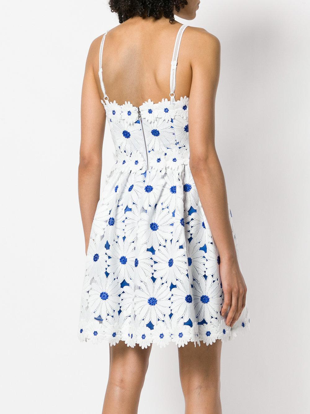 Lyst alice olivia flower appliqu sun dress in white izmirmasajfo