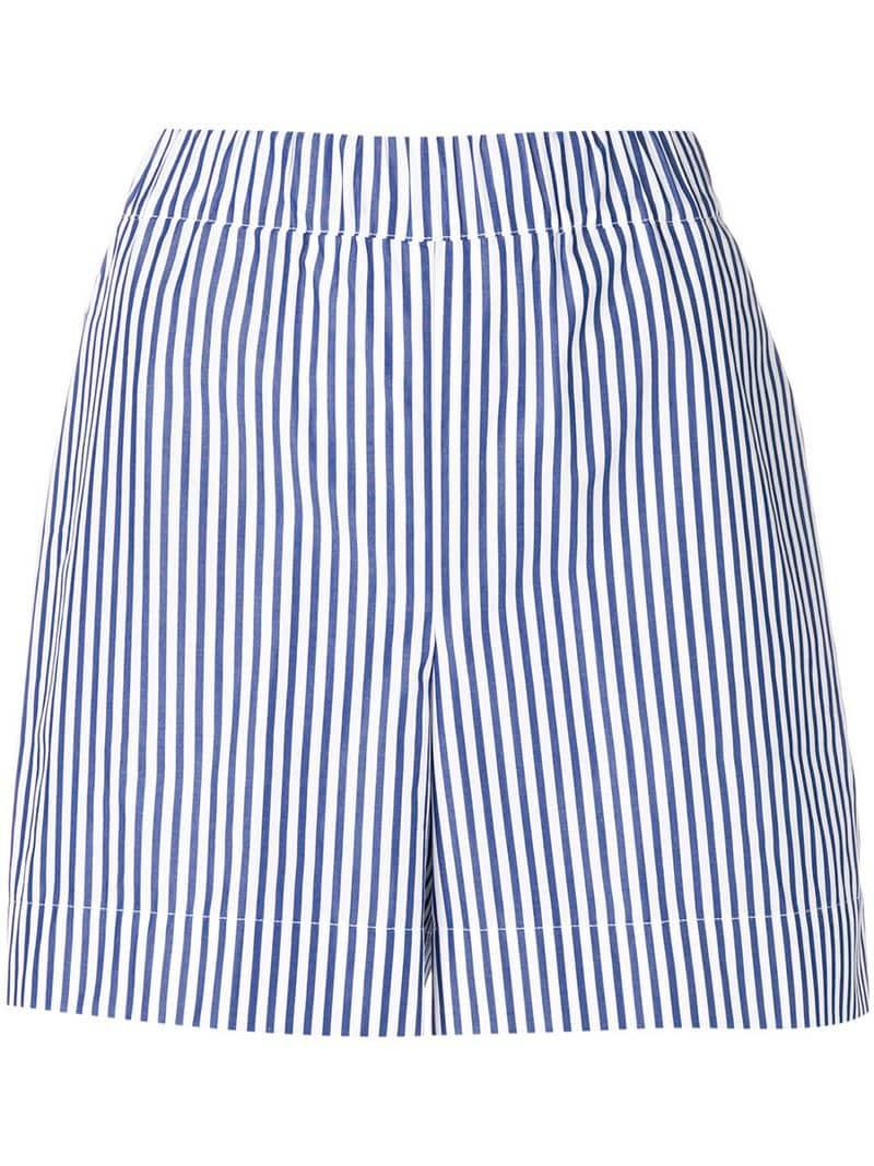 6d7fa87fb9 Pantalones cortos con motivo de rayas P.A.R.O.S.H. de color Blanco ...