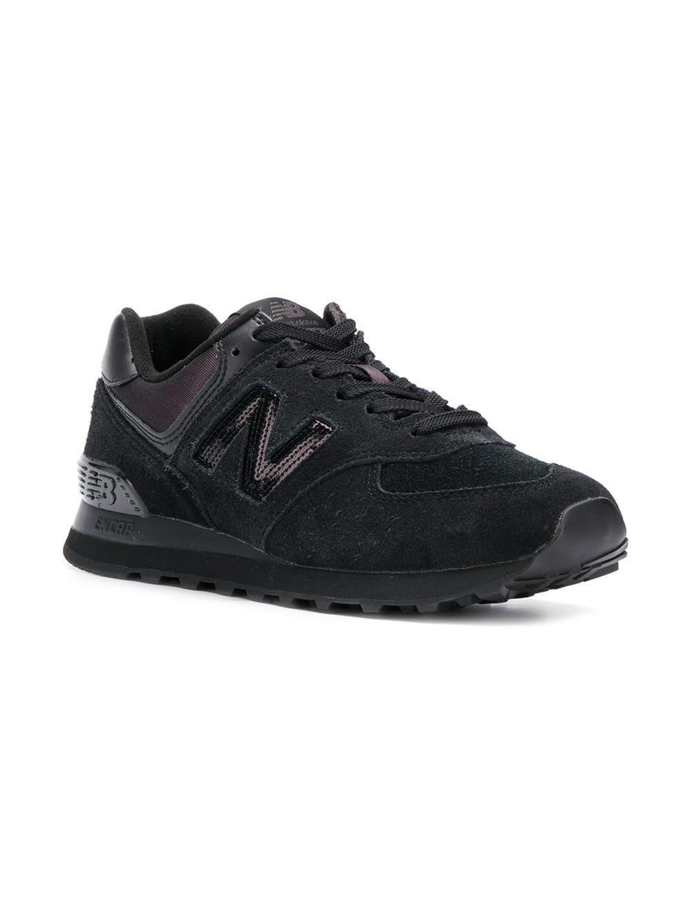 New Balance - Black 574 Sneakers - Lyst. View fullscreen 34fe90584