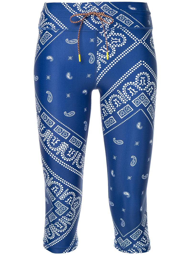cropped printed leggings - Blue The Upside jDUUY