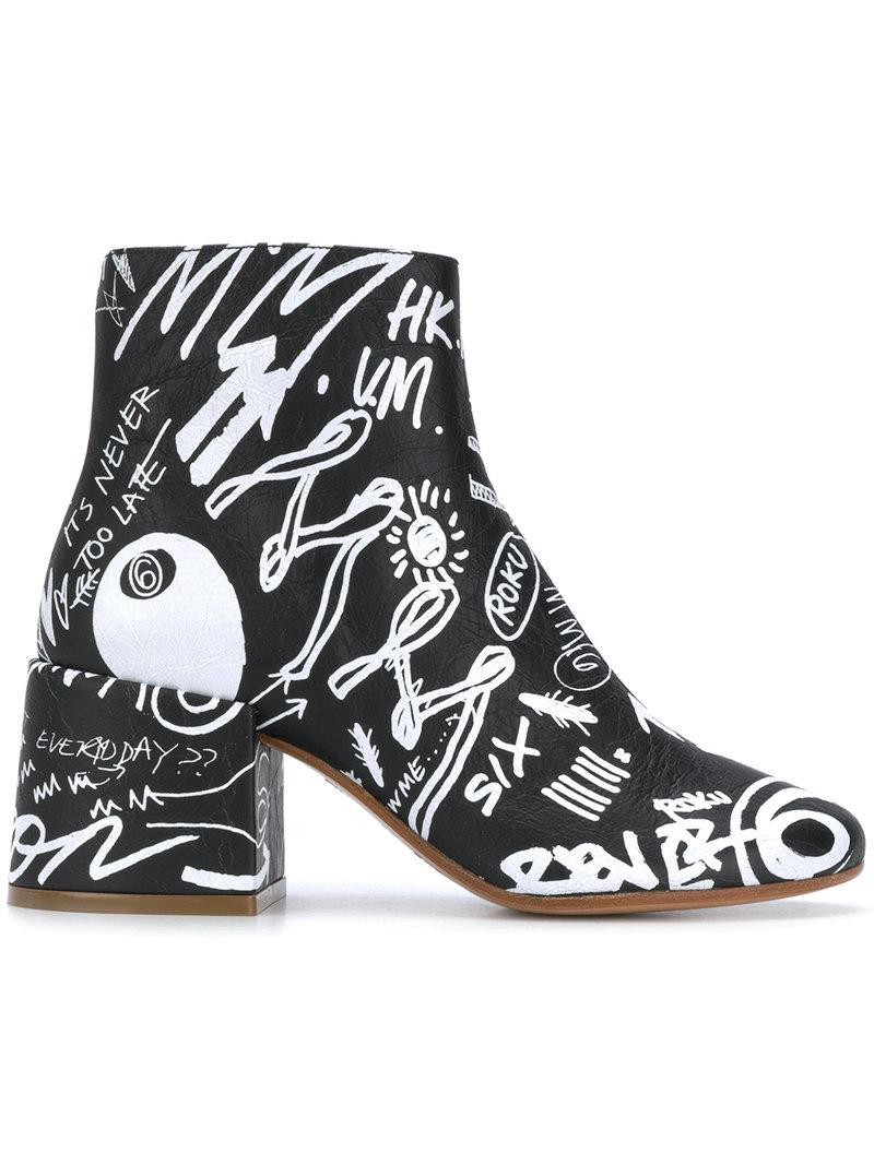 MM6 MAISON MARGIELA Graffiti boots Fashion Style B8AsunVHL