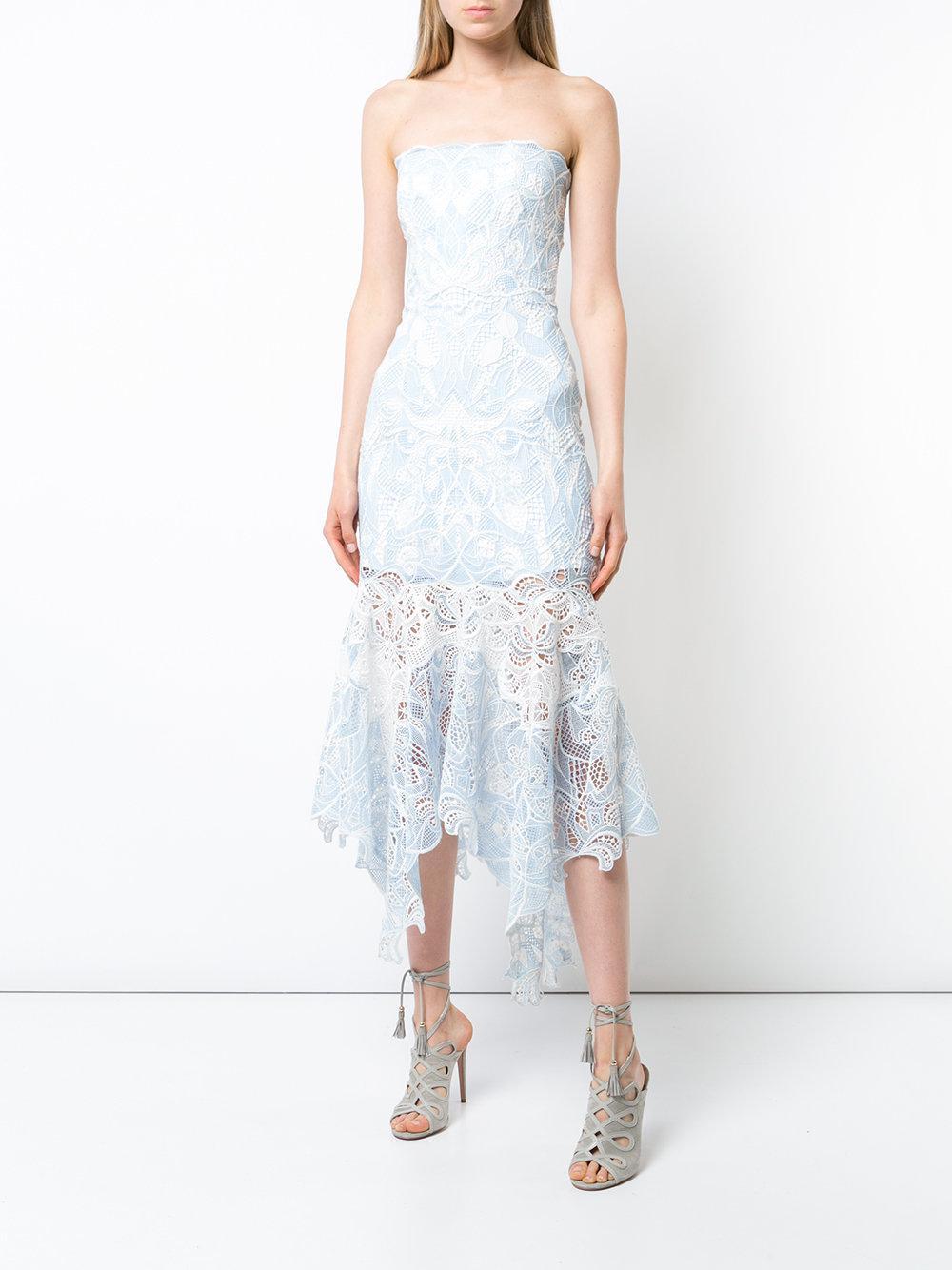 lace-embroidered flared dress - Blue Jonathan Simkhai A3tsPB