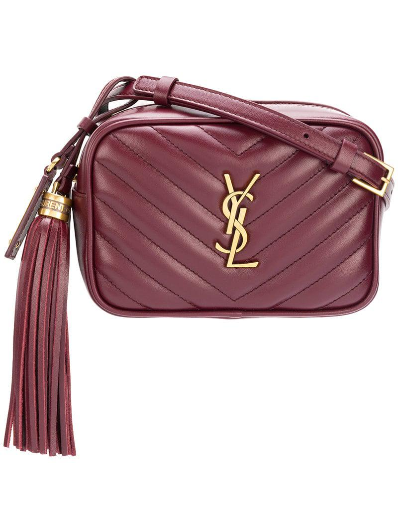 34d37d045db3 Saint Laurent Monogram blogger Belt Bag in Red - Lyst