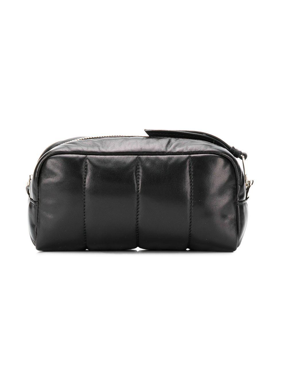 1a1eea6157 Lyst - Prada Logo Plaque Makeup Bag in Black