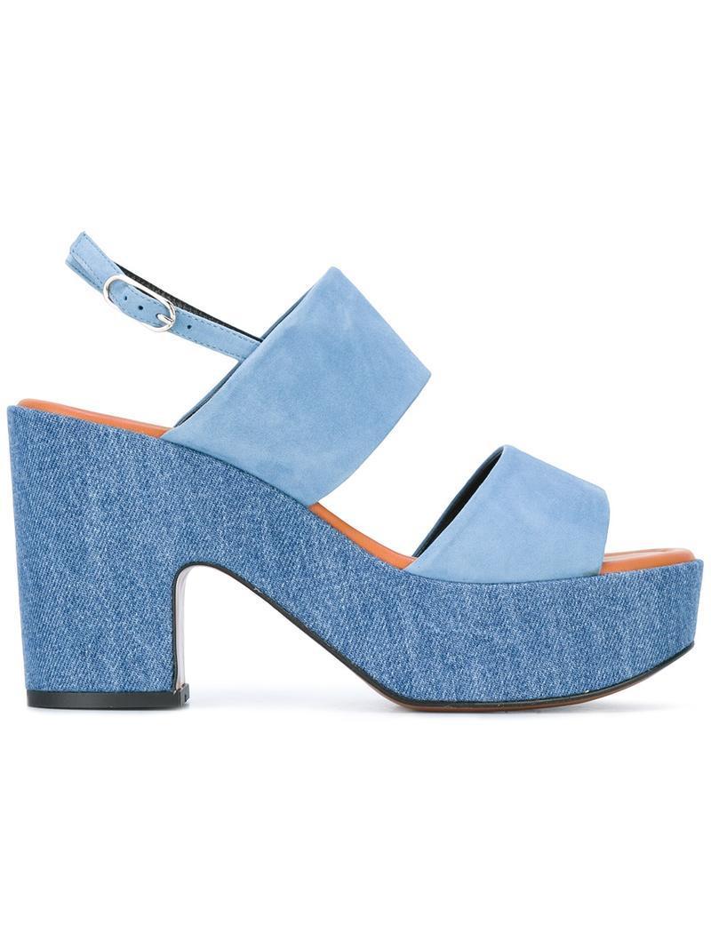 Clergerie Sandales Plateforme - Bleu oLQ9IHlN