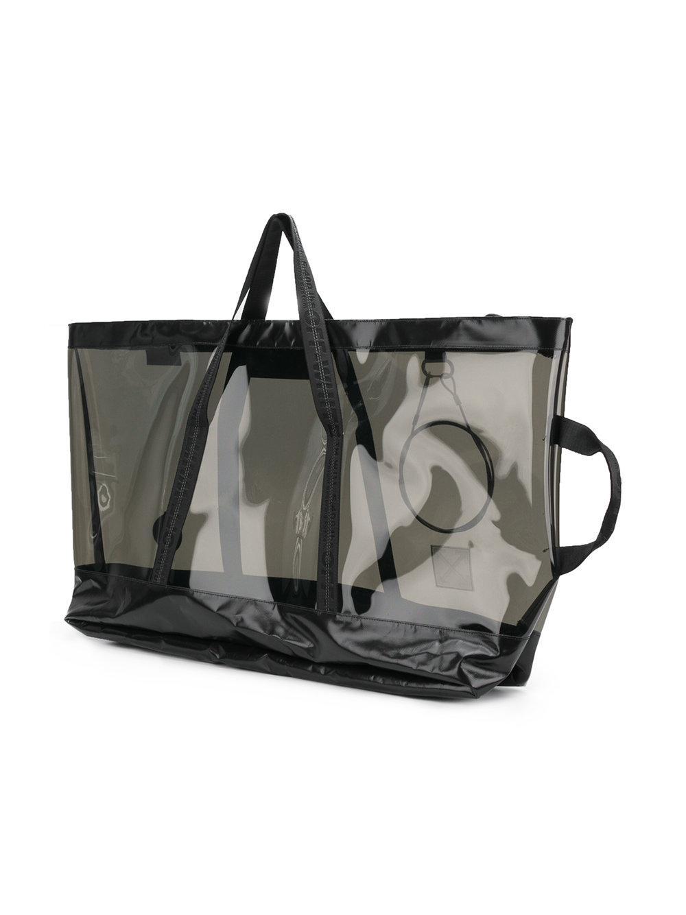 Blanc Cassé Grand Client Transparent Fourre-tout - Noir Obtenir Authentique Vente En Ligne clxT6JQ9Q1