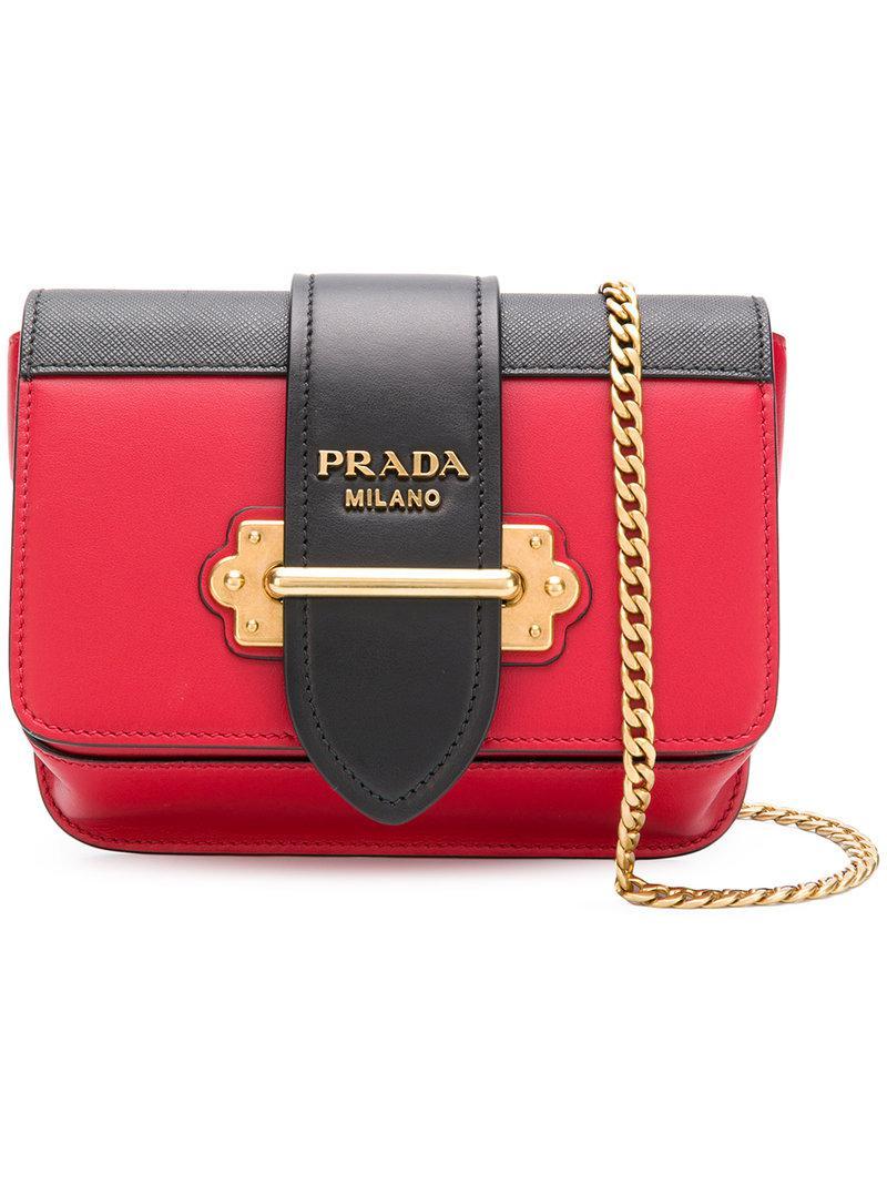 35d34ca31 Bandolera Cahier Prada de color Rojo - Lyst
