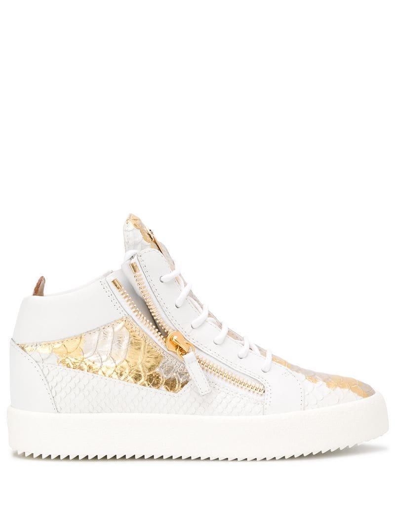 4f2b7d85b3b5b Lyst - Giuseppe Zanotti Kriss Metallic Sneakers in White