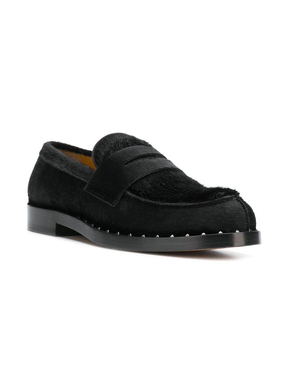 56182e75b242 Suede Black Men Valentino Loafers Fullscreen View Lyst For 4HACSn1
