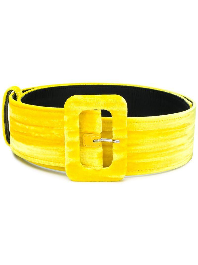 Lyst - Cinturón con hebilla clásico Attico de color Amarillo - 13 ... 1b4be1b9feef