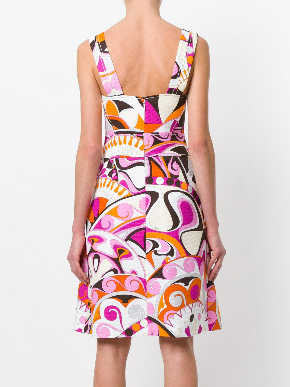 Manchester For Sale Outlet How Much printed apron dress - Multicolour Emilio Pucci 7X2TbPvzUy
