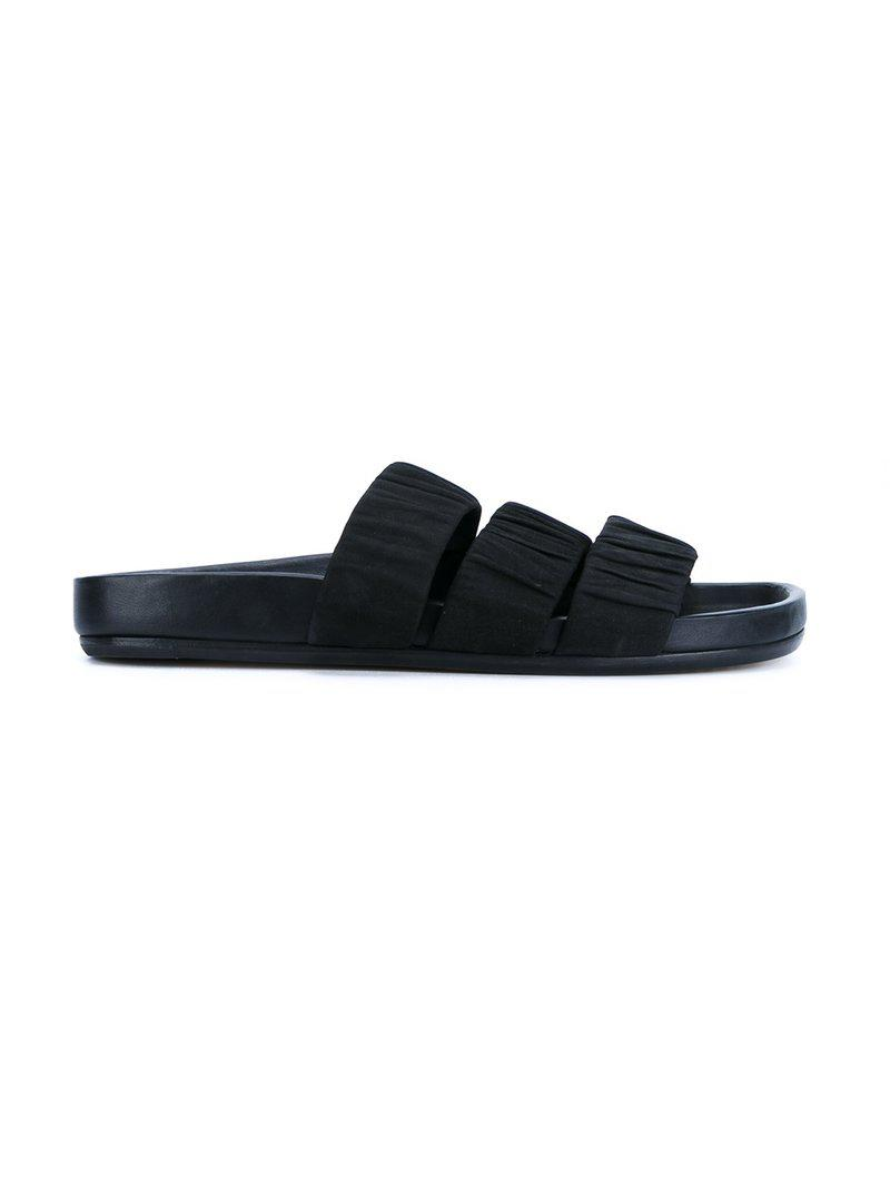 three strap sandals - Black Rick Owens qxc9k0YQG1