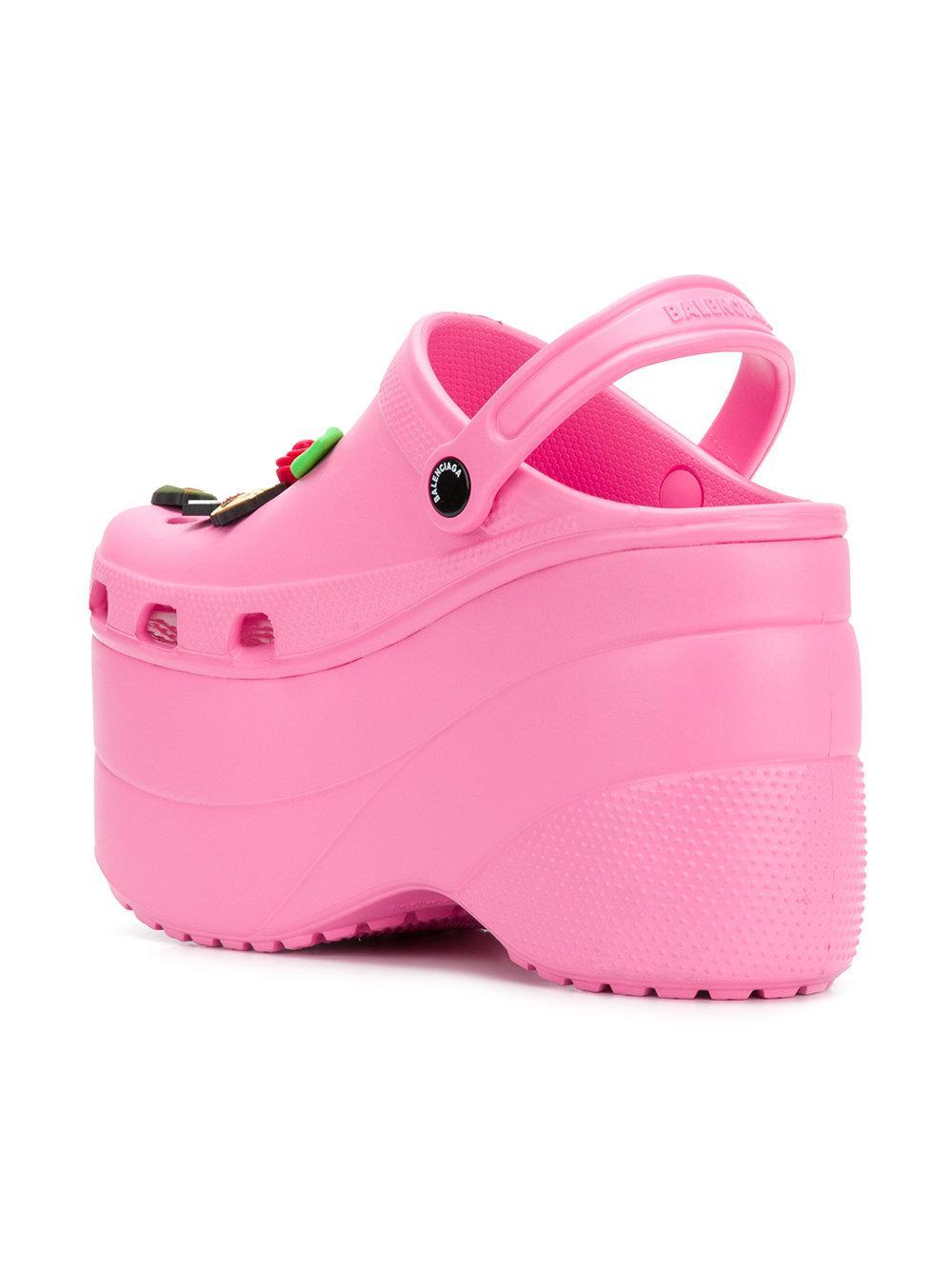 4afb889bd95 Balenciaga Foam Platform Sandals in Pink - Lyst