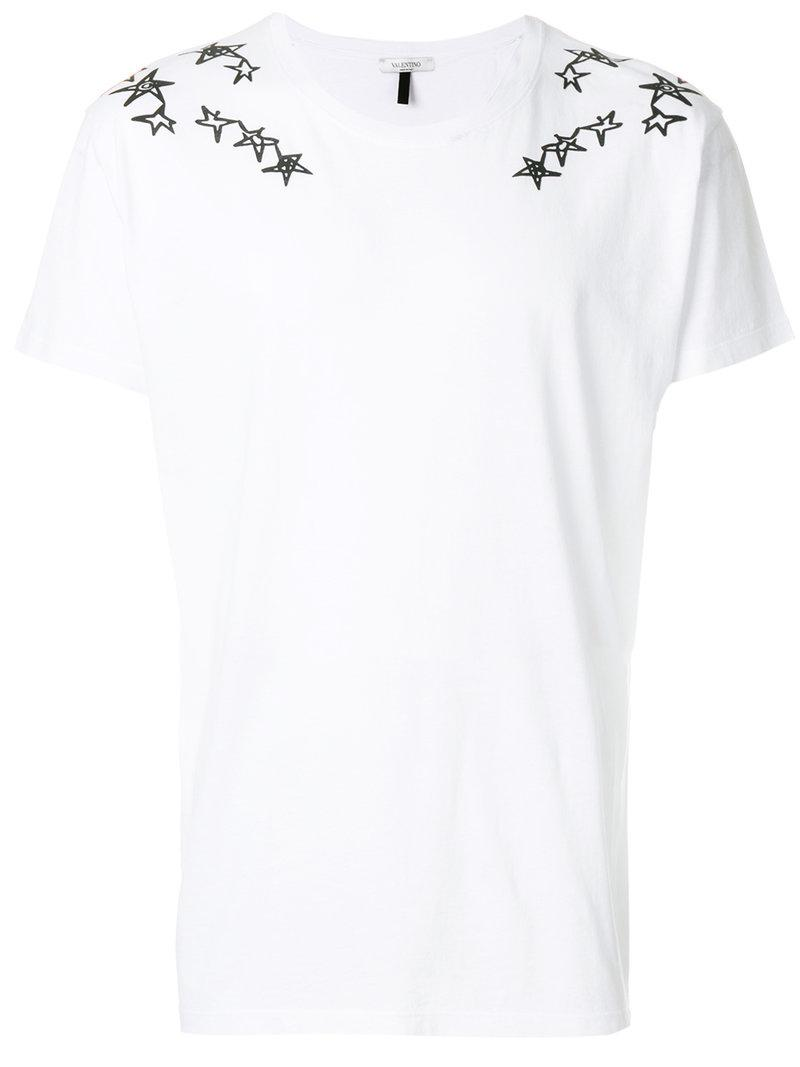 In Valentino Print T For Shirt Lyst Men Star White hCtsQrd