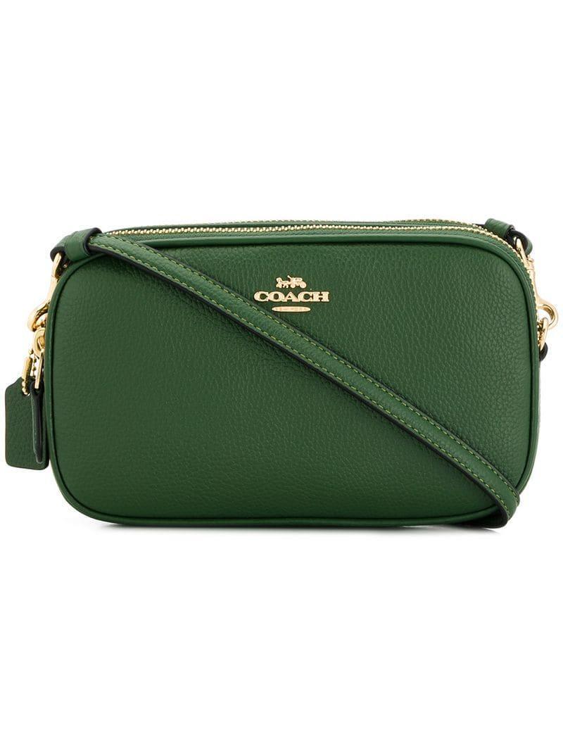 8d7ee97a3815 COACH - Green Sadie Crossbody Bag - Lyst. View fullscreen