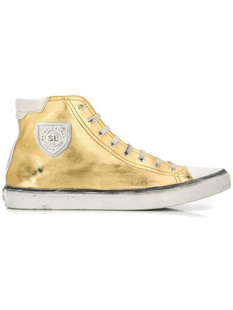 d93c5e80825 Saint Laurent Bedford Sneakers in Metallic for Men - Lyst