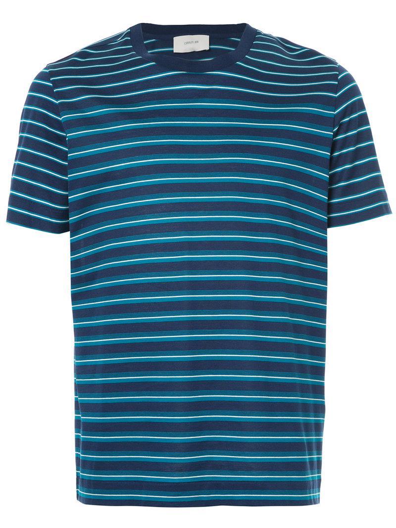 block stripe T-shirt - Blue Cerruti Cheap Sale Cheap Buy Cheap Amazon FFIWsu
