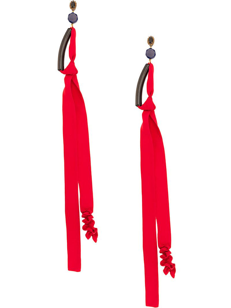 Marni long pendant earrings - Red J5voSytFTs