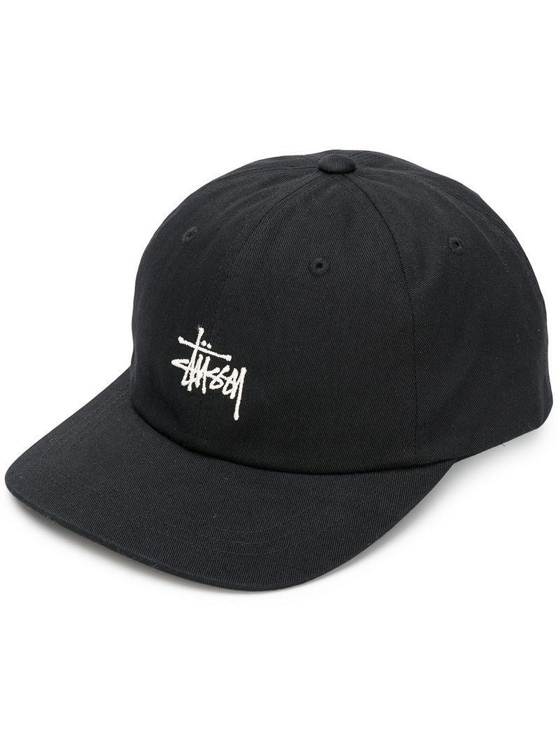 Lyst - Stussy Logo Cap in Black for Men - Save 68.42105263157895% 526e4a1a6ec8