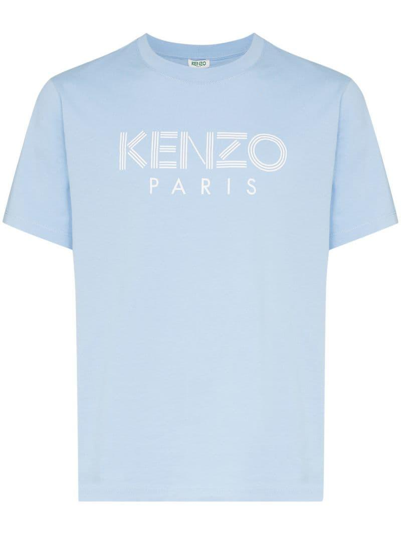 6394af520 KENZO - Blue Paris Logo T-shirt for Men - Lyst. View fullscreen