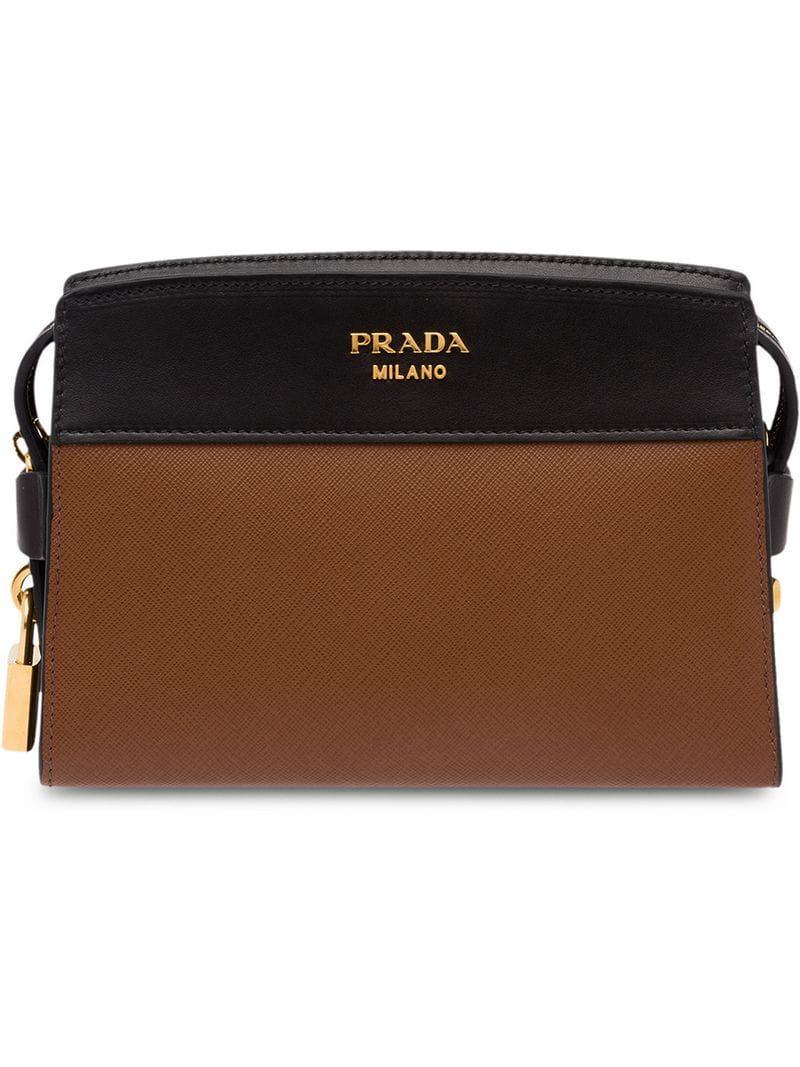 ddd14beac192c4 Lyst - Prada Esplanade Shoulder Bag in Brown