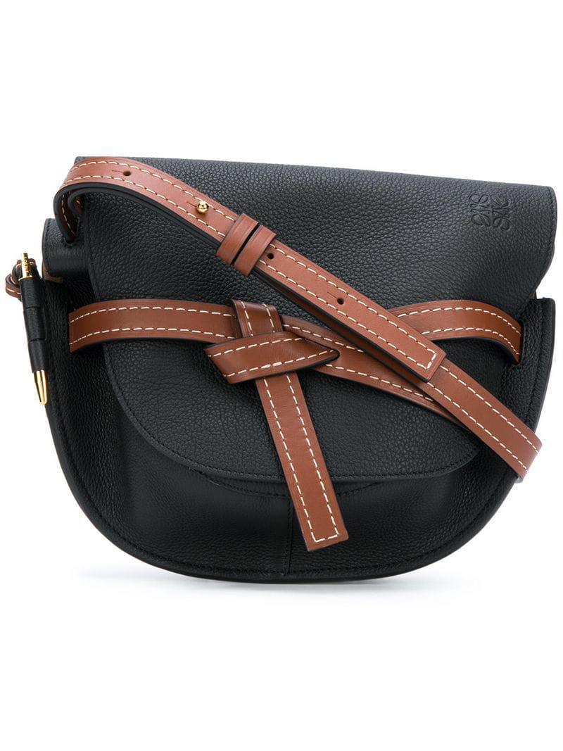 50b0296f9aa8 Loewe - Black Gate Small Shoulder Bag - Lyst. View fullscreen
