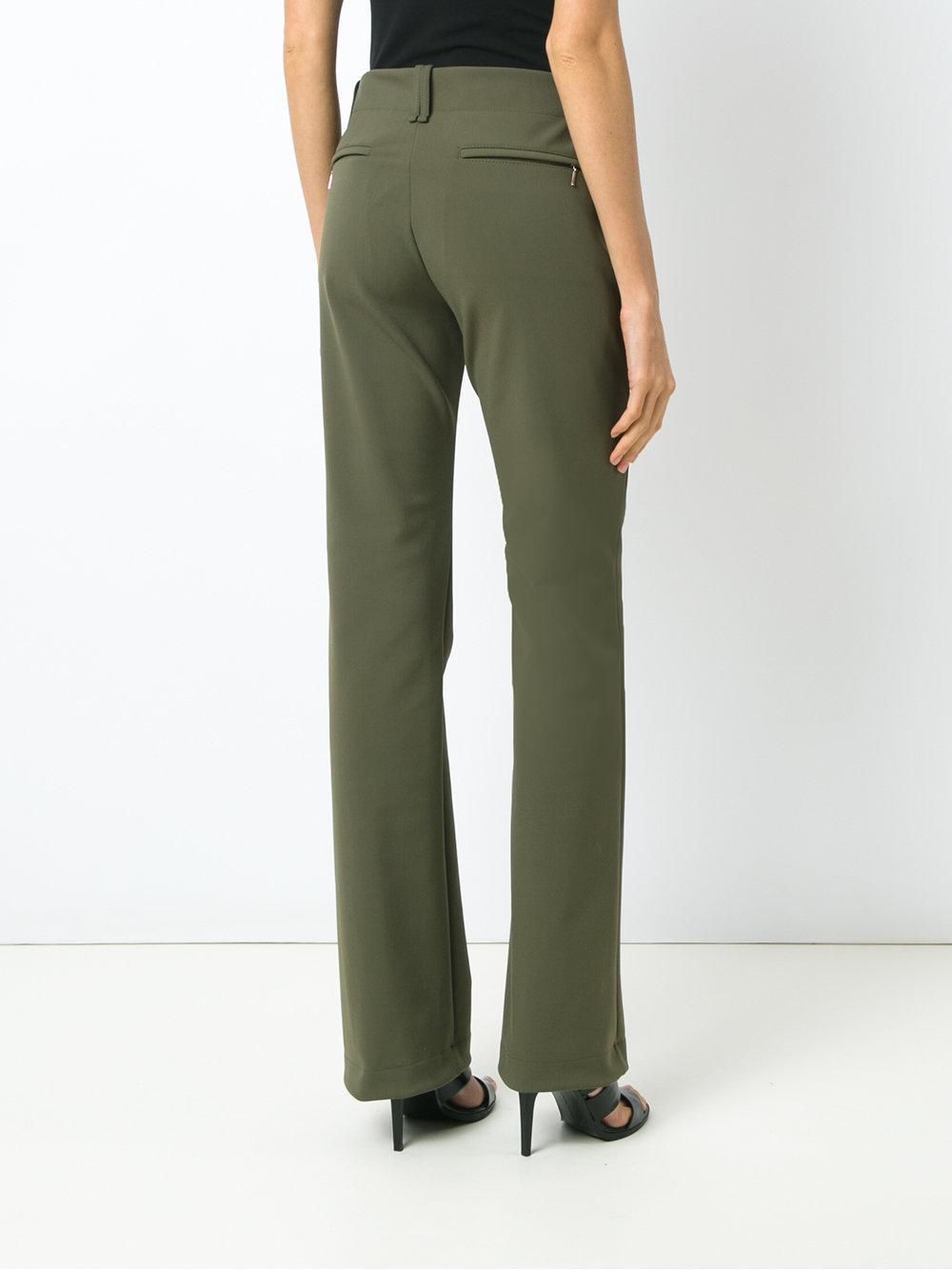 Grande Hauteur Pantalon Droite Ajustement - Vert Gloria Coelho 9uniU