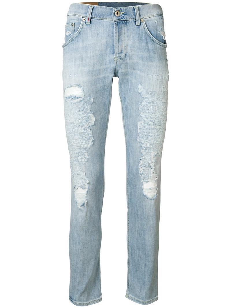 distressed jeans - Blue Dondup Xeu3mU