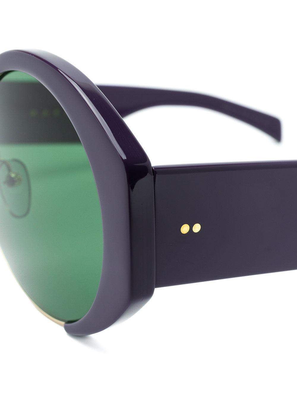 8d31ce61f941 Marni Eyewear Green Tinted Sunglasses in Green - Lyst
