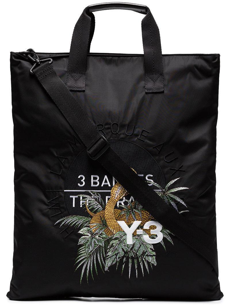 Homme 3 Pour En Broderies Logo Lyst Et Cabas À Y Noir Sac Coloris x0UqBFz8A
