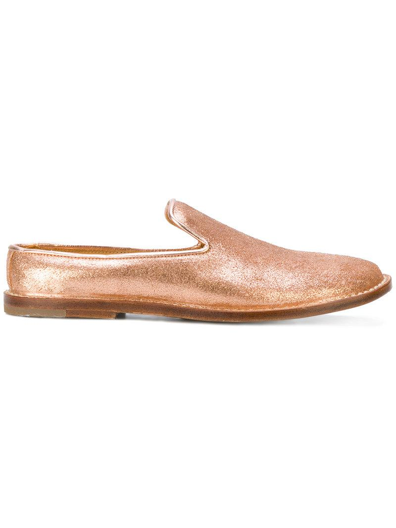 Officine Creative Ines loafers - Metallic farfetch beige Grandes Ofertas En Línea aG6UVe