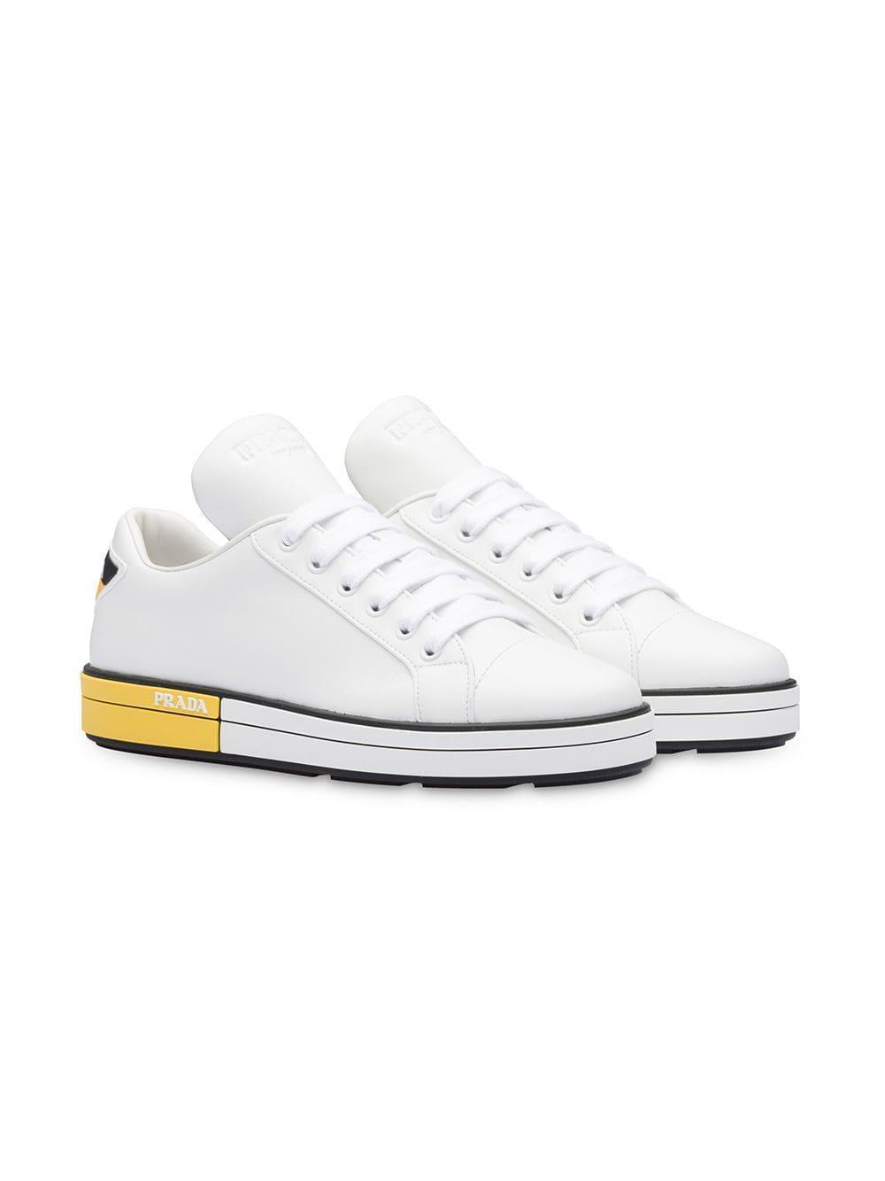253c23858ed Lyst - Prada Platform Sneakers in White