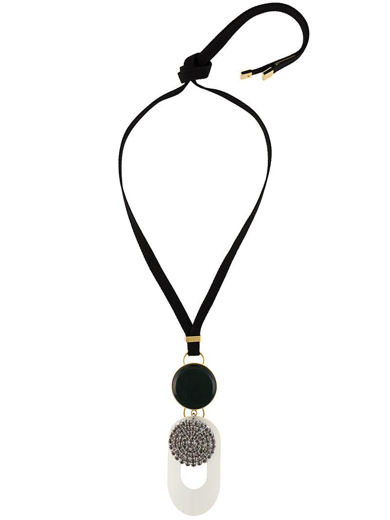 Marni pearl pendant necklace - Black e2A3hl0vg