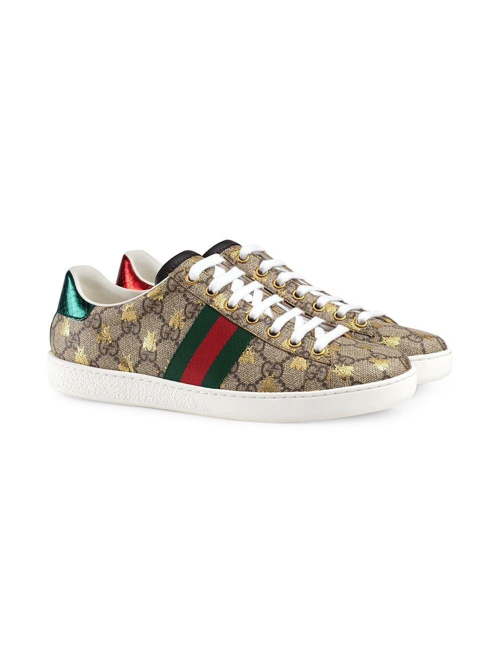 96a9fd433 Gucci Ace GG Supreme Sneaker With Bees - Lyst