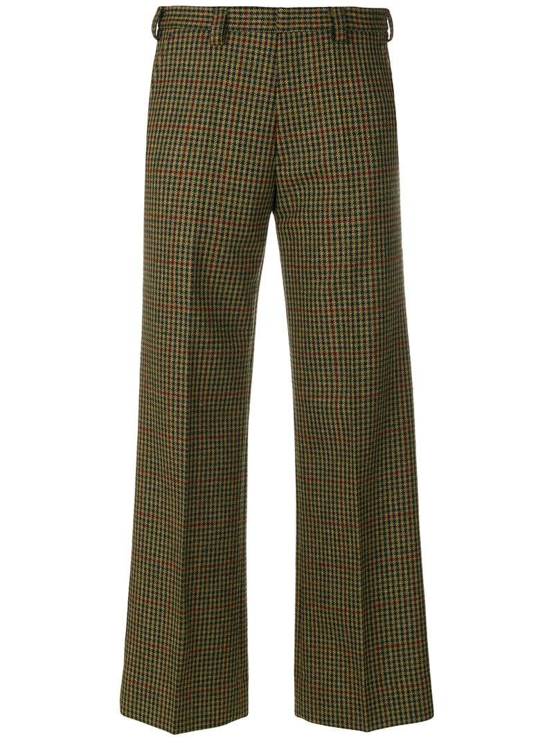 checked palazzo pants - Brown Maison Martin Margiela Outlet Store Cheap Price Outlet Official Site Outlet Collections Cheap Sale Good Selling Best Store To Get Sale Online pqi6wm