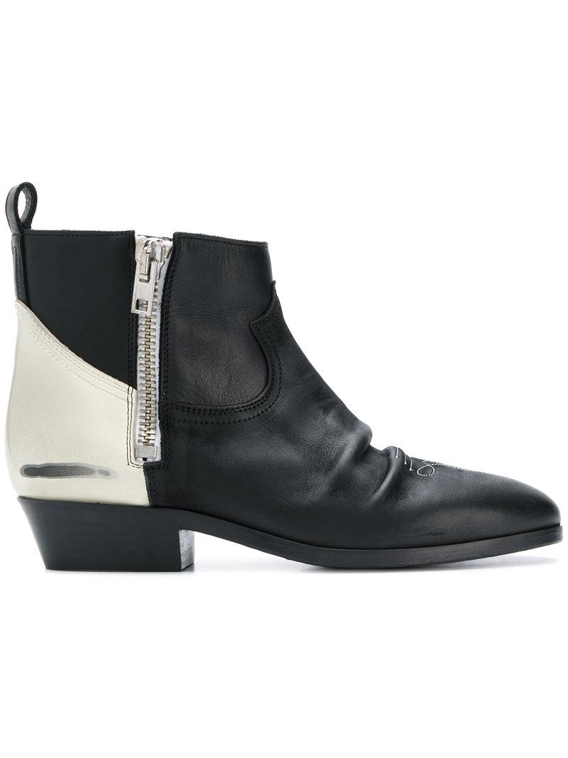 Golden Goose Contrast panel boots