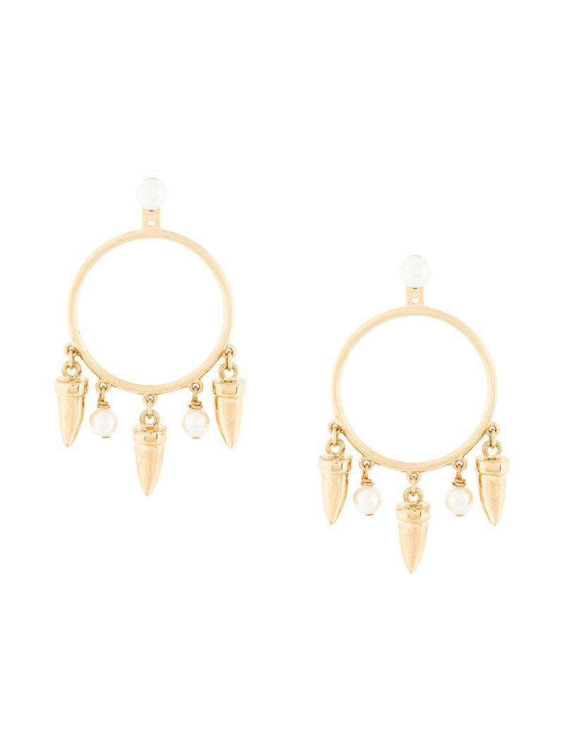 Eshvi Hula Hoops earrings - Yellow & Orange 0EA8kdhH