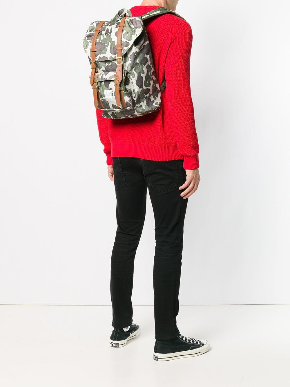 Herschel Supply Co. - Green Little America Men s Backpack In Multicolour  for Men - Lyst. View fullscreen 87417726fe