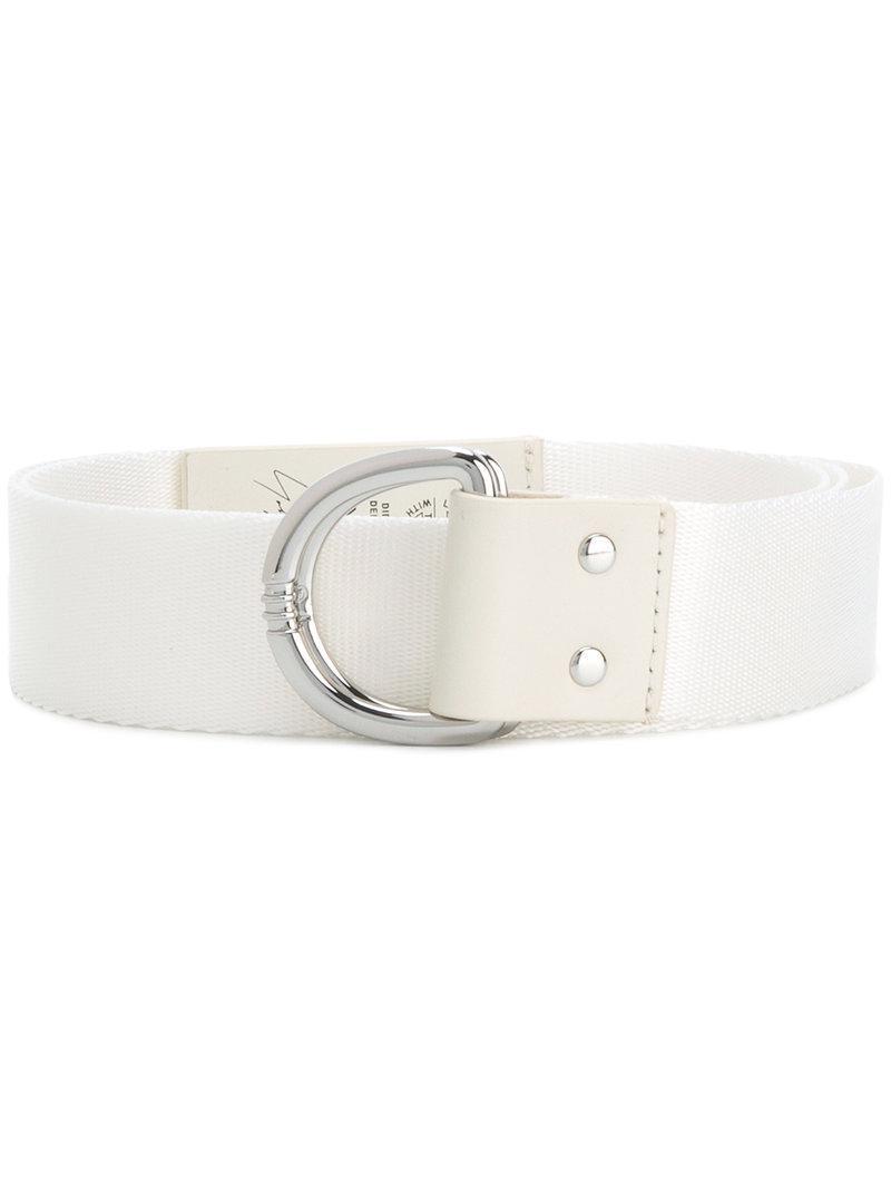 Lyst - Cinturón con hebilla en D Y-3 de hombre de color Blanco 495e505831c9