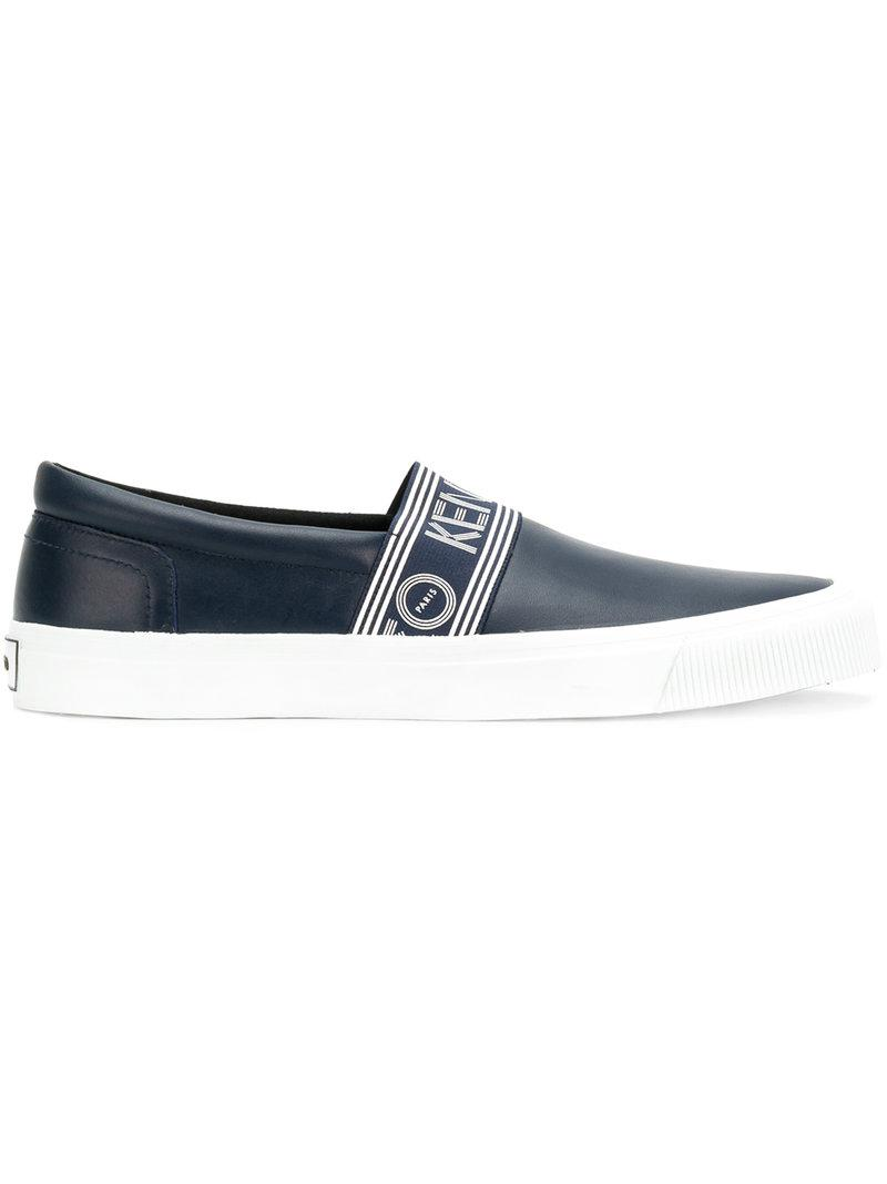 Kenzo logo stripe slip-on sneakers free shipping many kinds of under $60 Tq1Cu