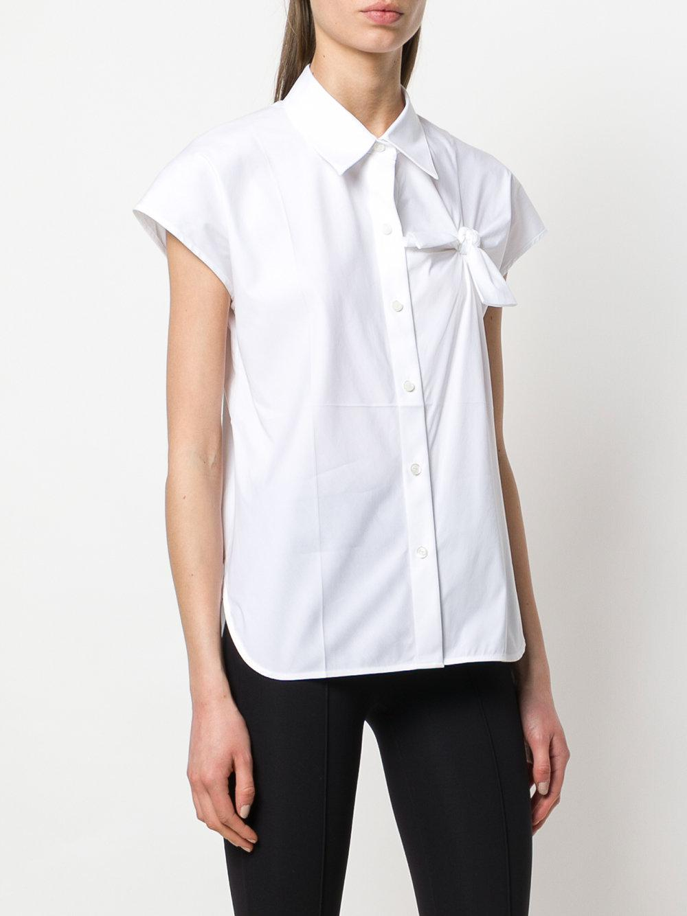 3a90557c9fc Lyst Helmut Knot Shirt Lang Chest White qXXwA6R
