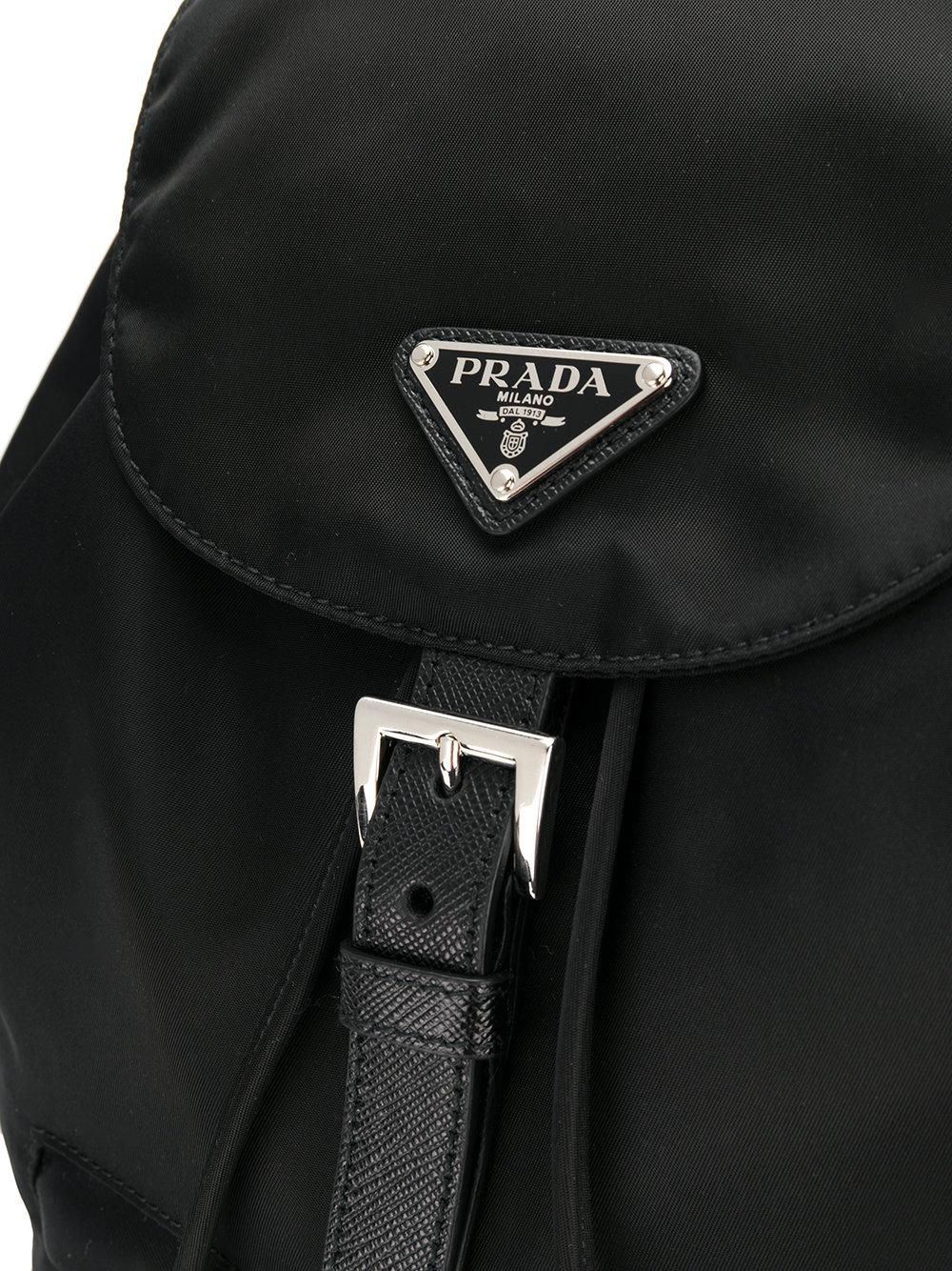 d1f576e061f3 ... cheap prada black fabric backpack lyst. view fullscreen 3f24d 4ed8b